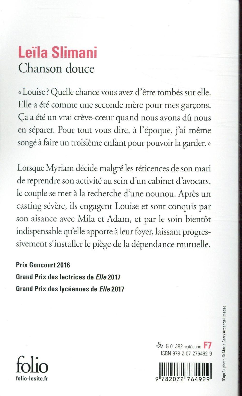 Une Chanson Douce Leila Slimani : chanson, douce, leila, slimani, Chanson, Douce, Leïla, Slimani, Gallimard, Poche, Livre, NANCY