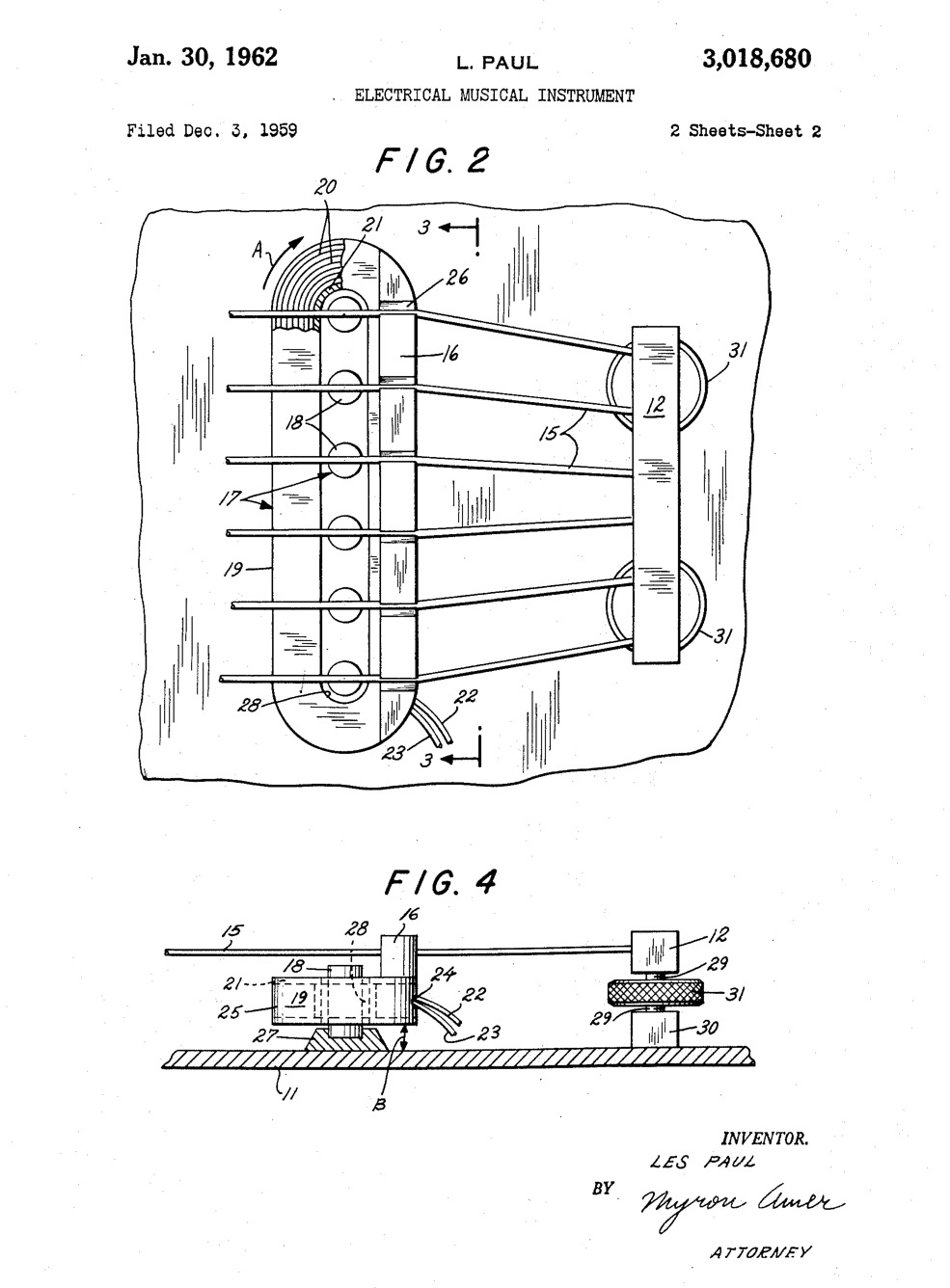 Les Paul's First Patent