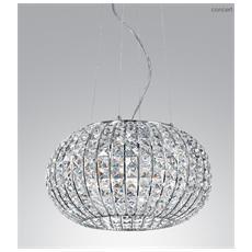 Qualità e design a prezzi accessibili. Gt Luce I Concert S5 Lampadario In Cristallo Con 5 Luci Cromato Eprice
