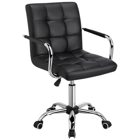 Spesso, queste sedute vengono anche definite poltrone direzionali o da studio. Yaheetech Sedia Da Scrivania Nera Con Rotelle Girevoli In Ecopelle Per Computer Altezza Regolabile Con Braccioli Rimovibili Eprice