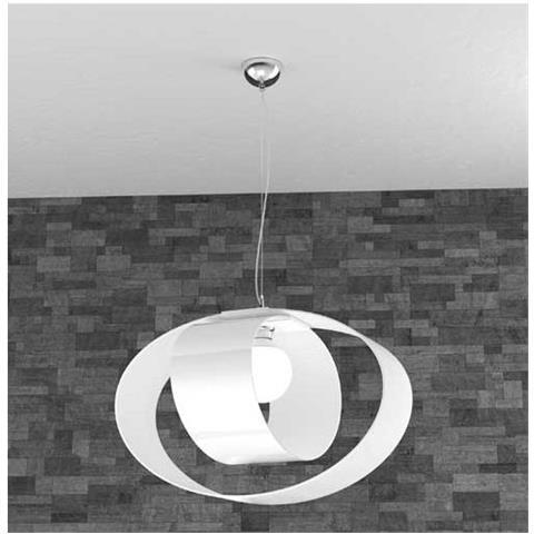Sospensione moderna di forma sferica con struttura in metallo tagliata al laser nella parte bassa, ideale per illuminare cucina e soggiorno. Top Light Lampada A Sospensione Lap 1146 S5 Lampadario Moderno Bianco Da Salotto Eprice