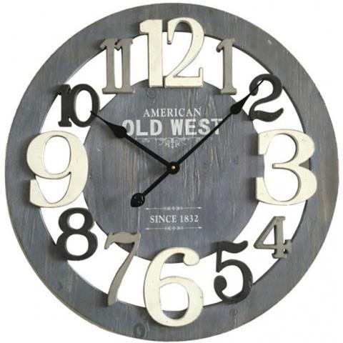 Tutti gli orologi da parete sono disegnati e realizzati artigianalmente da calleadesign. Mobili Rebecca Orologio A Muro Tondo Legno Grigio Bianco Stile Moderno O 55 Cm Eprice