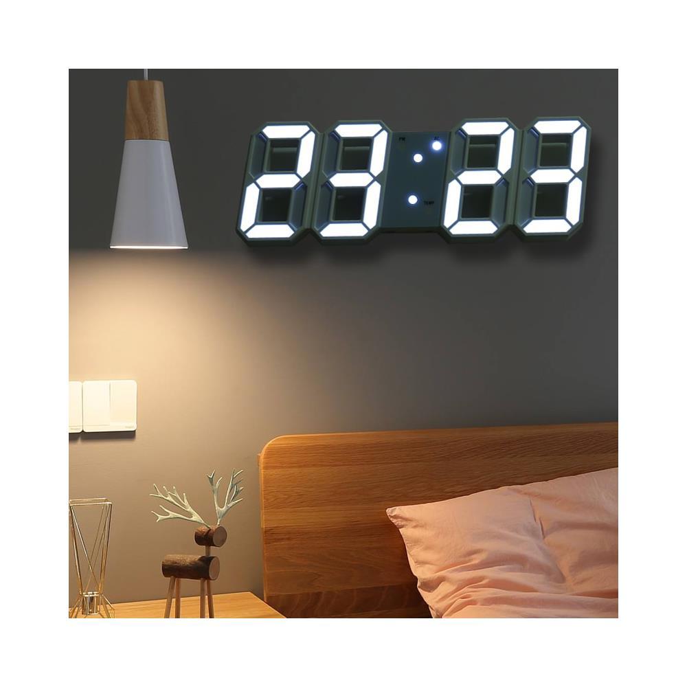 Anche nel settore degli orologi da appendere ci sono interessanti proposte di design che permettono di offrire un tocco d. Htn Hooqict 3d Led Digitale Grande Orologio Da Parete Design Moderno Casa Soggiorno Decorazione Data Temperatura Calendario Sveglia Orologio Da Tavolo Orologi Da Parete Eprice
