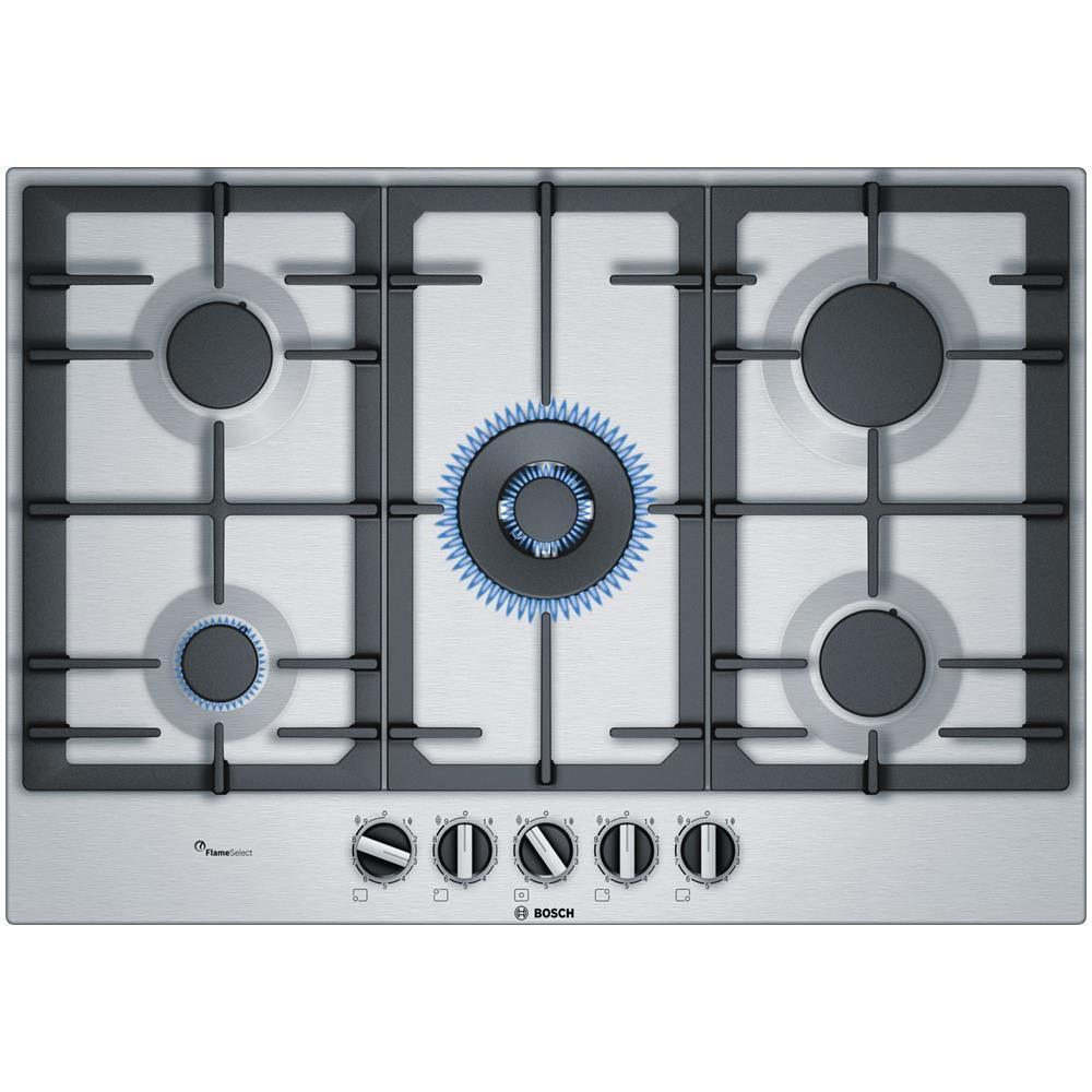 Bosch Piano Cottura Pcq7a5b90 Serie 6 A Gas 5 Fuochi Gas Colore Inox