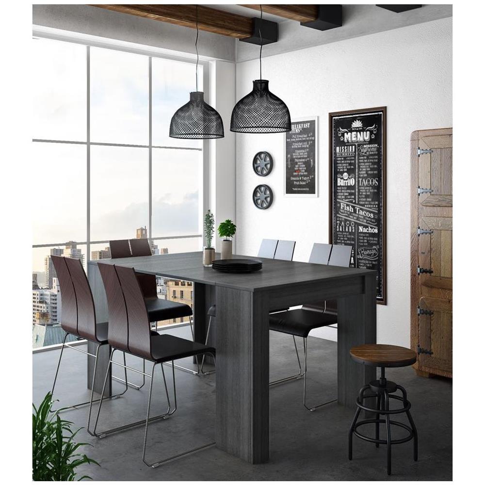 Comfort Home Innovation Tavolo Consolle Per Sala Da Pranzo E Soggiorno Rettangolare Allungabile Fino A 140 Cm Colore Grigio Fino A 6 Persone