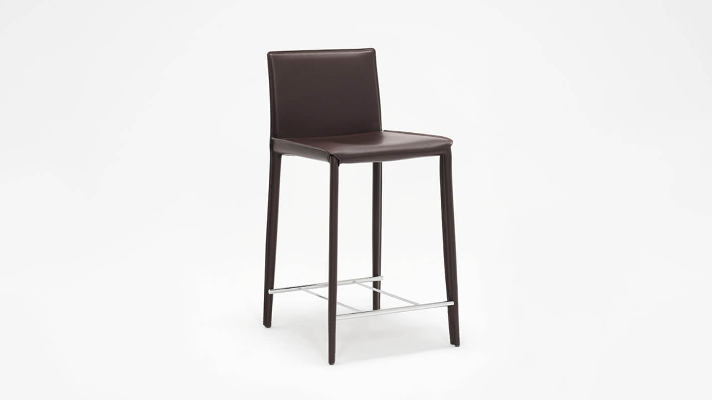 Counter Chair Low Back Counter Chair Brown Eq3