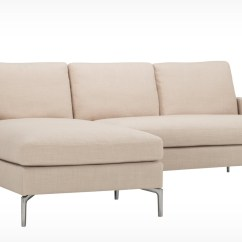 Sofa W Chaise Single Corner Bed Eve Classic 2 Piece Sectional With Fabric Eq3