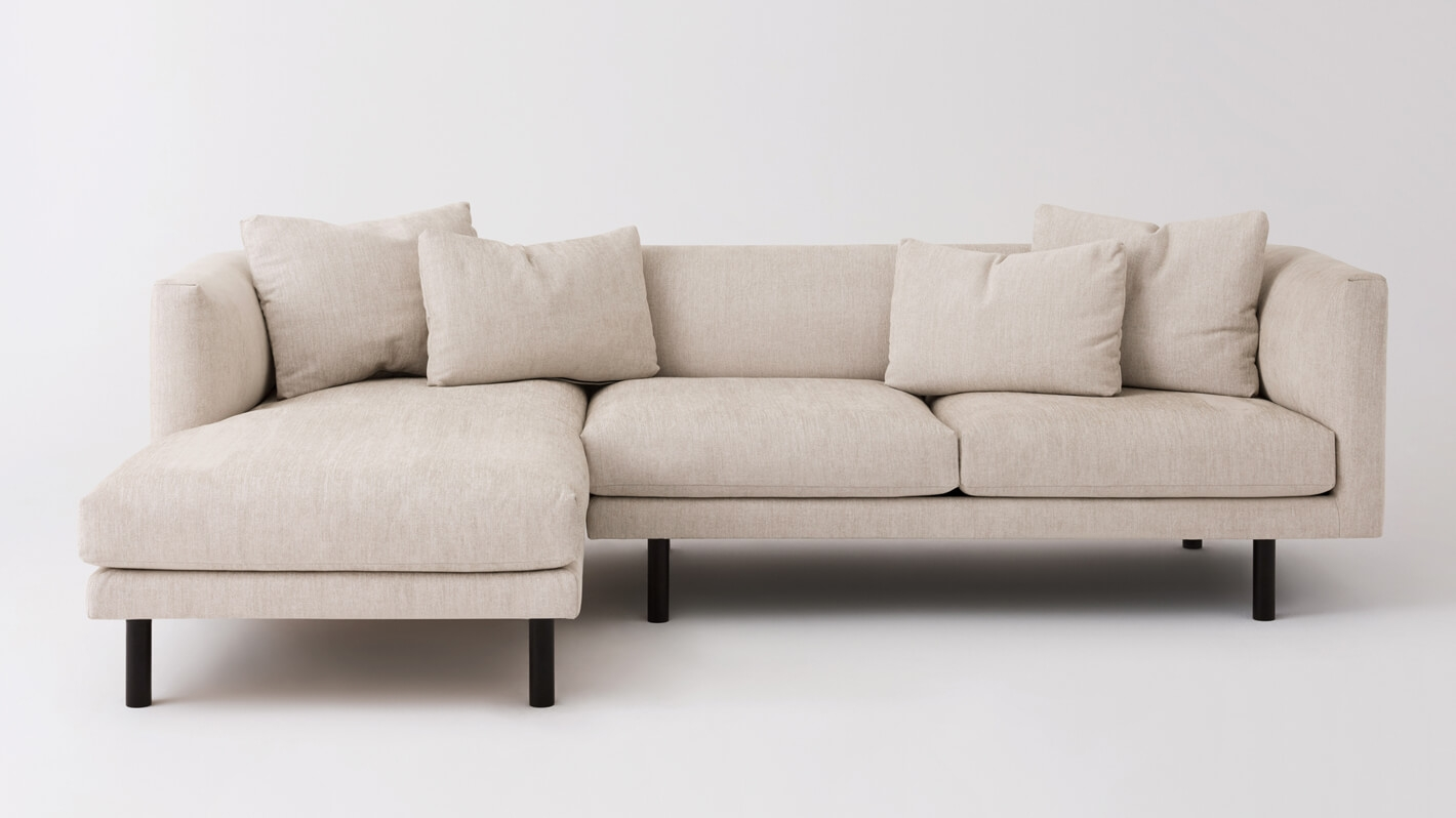 2 piece sectional sofa chaise peterborough replay with fabric eq3