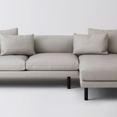 2 Piece Sectional Sofa Chaise Wrap Replay With Leather Eq3