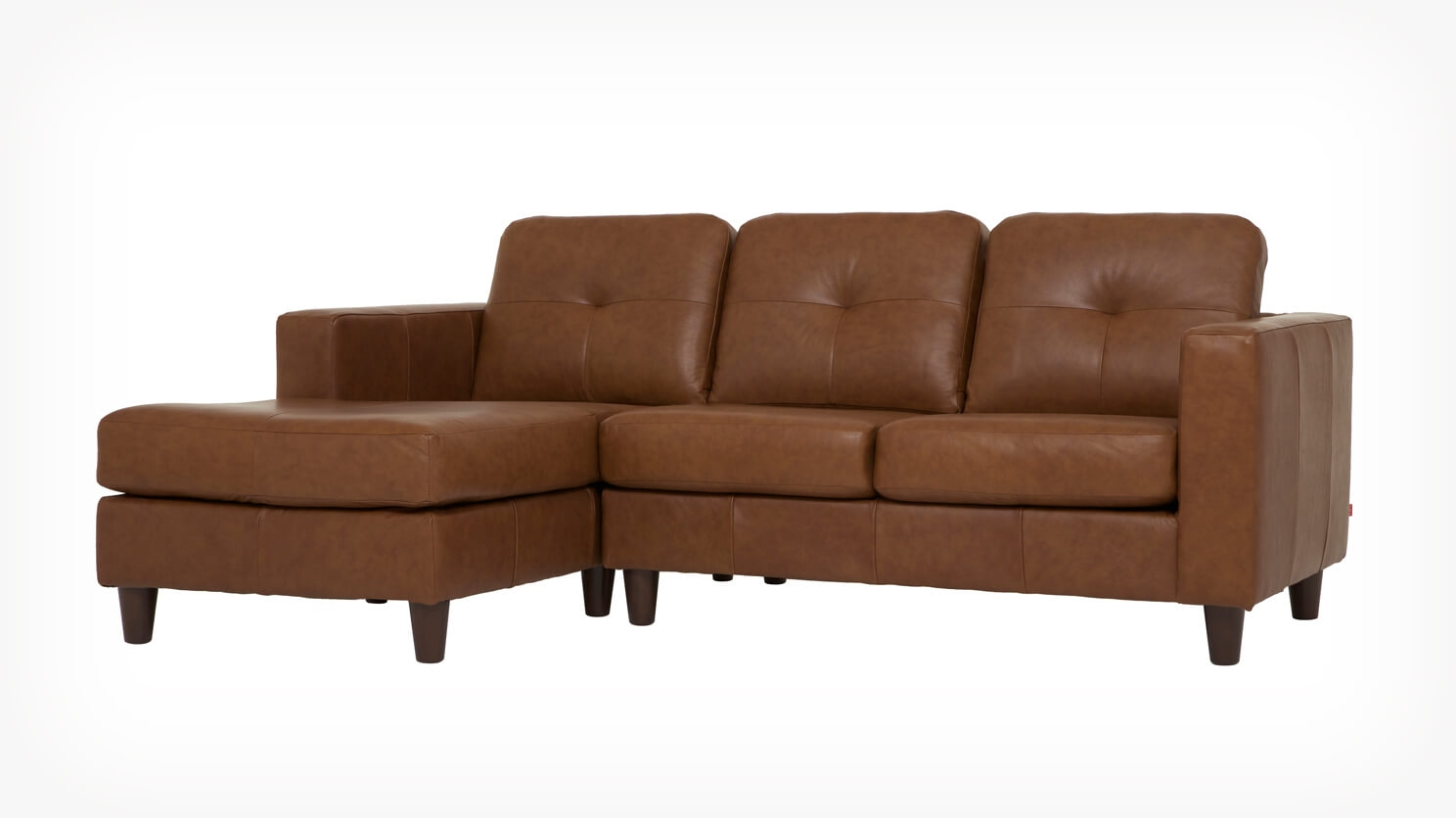 eq3 stella sofa dimensions morty chenille bed sectional with right chaise brown solo 2 piece leather