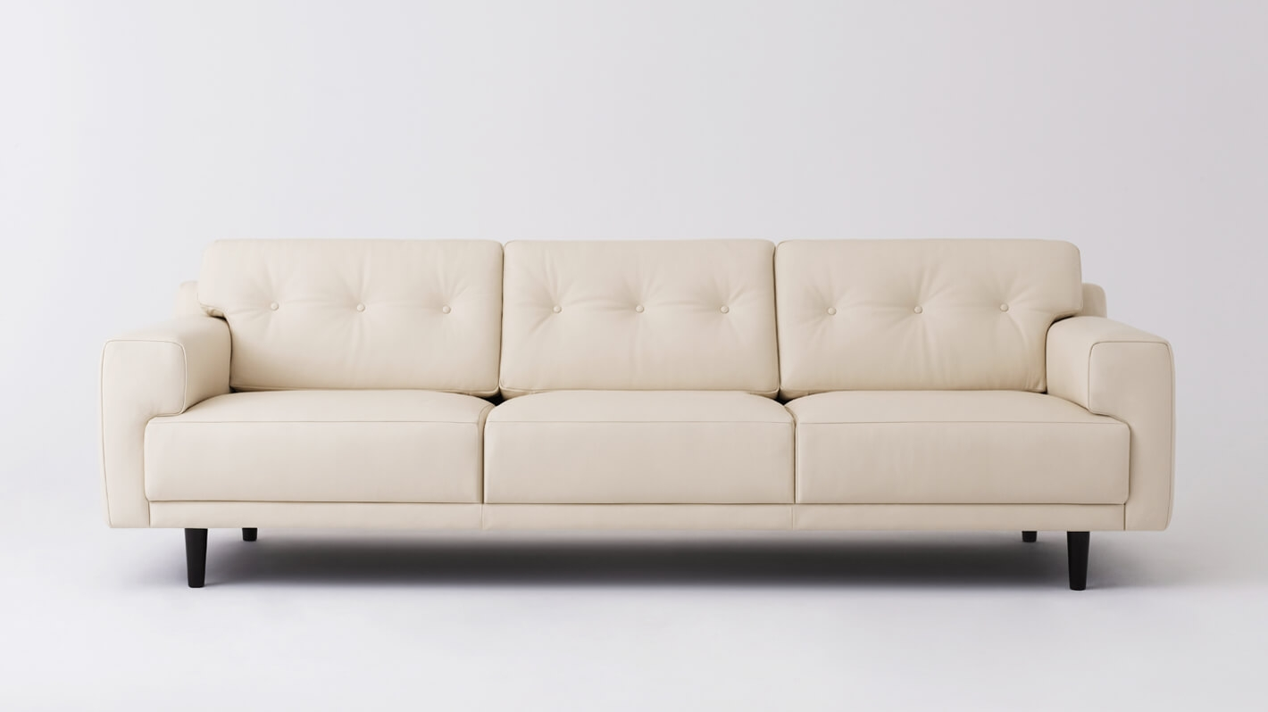 eq3 stella sofa dimensions with three reclining seats remi 101 quot leather