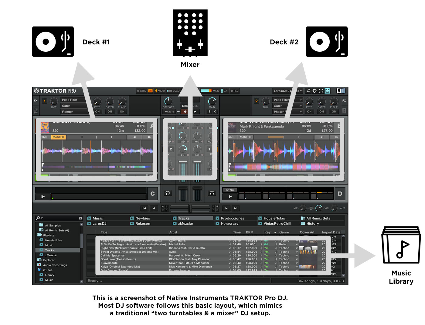 hight resolution of dj software layout