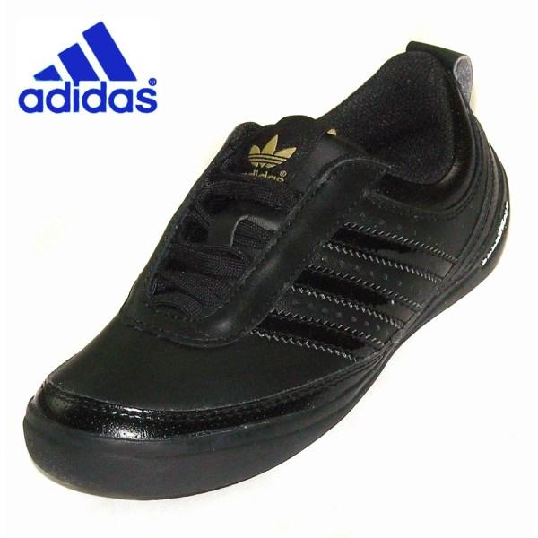 Kids Adidas Goodyear Street Shoe Black Leath Size Uk 3