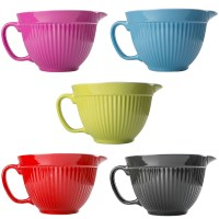 NEW ZEAL KITCHEN PINK MELAMINE MIXING BOWL JUG WITH SPOUT ...