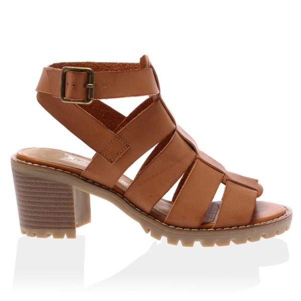 Ladies Grip Sole Womens Open Toe Block Heel Strappy