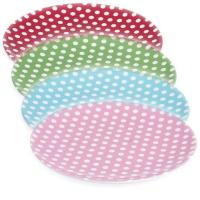 Childrens Polka Dot Plastic Melamine Picnic Party Plate