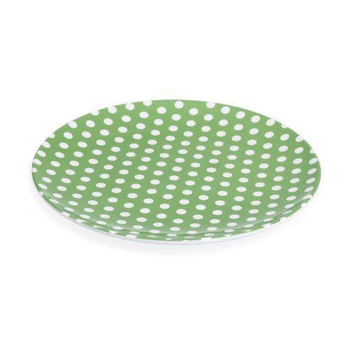 Childrens Polka Dot Plastic Melamine Picnic Party Plate