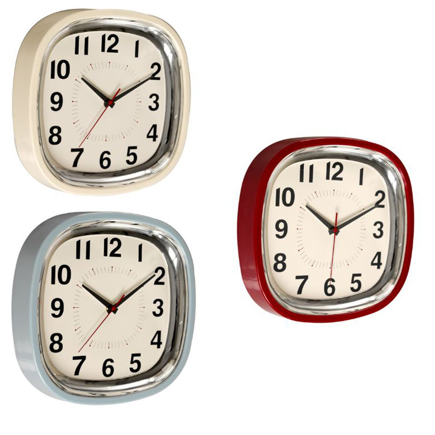 retro kitchen wall clock unfinished cabinets 1950 39s vintage kitsch refectory diner