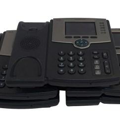 five 5 x cisco spa525g2 5 line color display business ip phone [ 3096 x 1532 Pixel ]