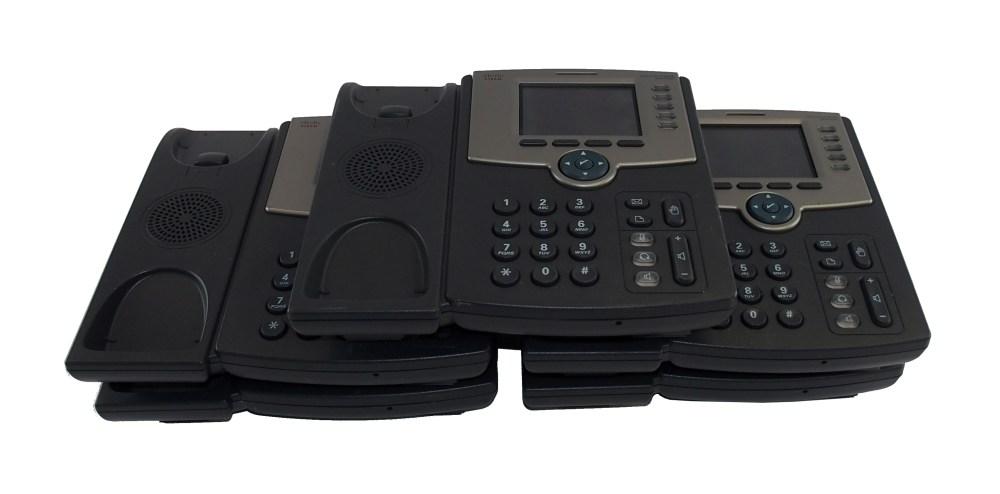 medium resolution of five 5 x cisco spa525g2 5 line color display business ip phone