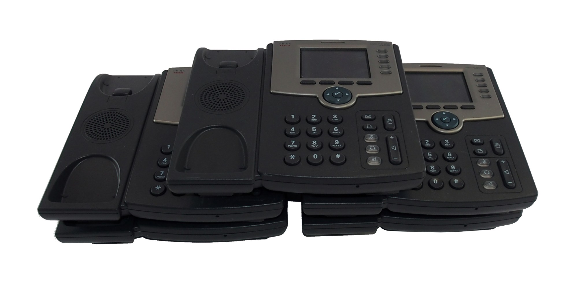 hight resolution of five 5 x cisco spa525g2 5 line color display business ip phone