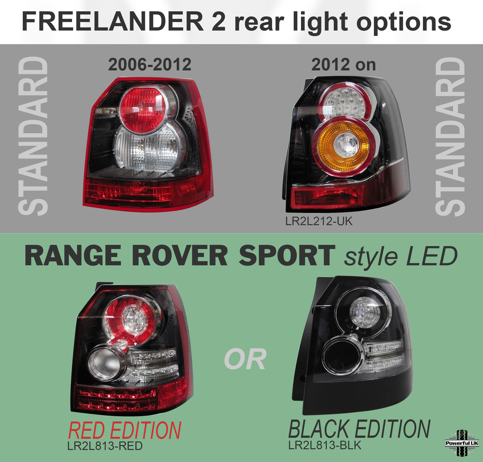 hight resolution of led sport style rear lights smoked land rover freelander 2