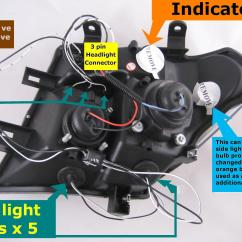 Nissan Navara Headlight Wiring Diagram Aiphone Lef 3l And Schematics Black Led Projector Headlights For D40