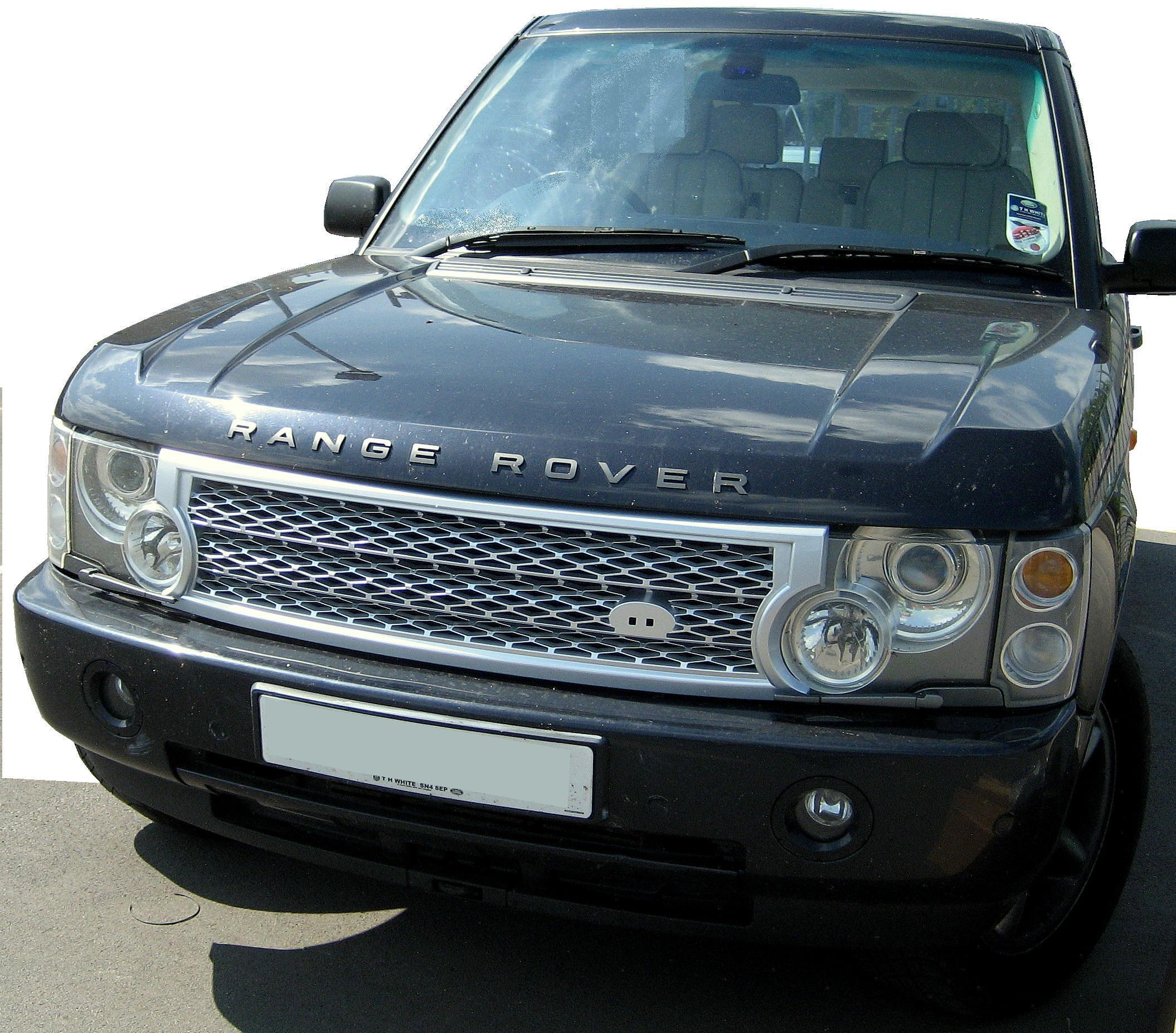 silver SUPERCHARGED grille upgrade kit for Range Rover L322 2002
