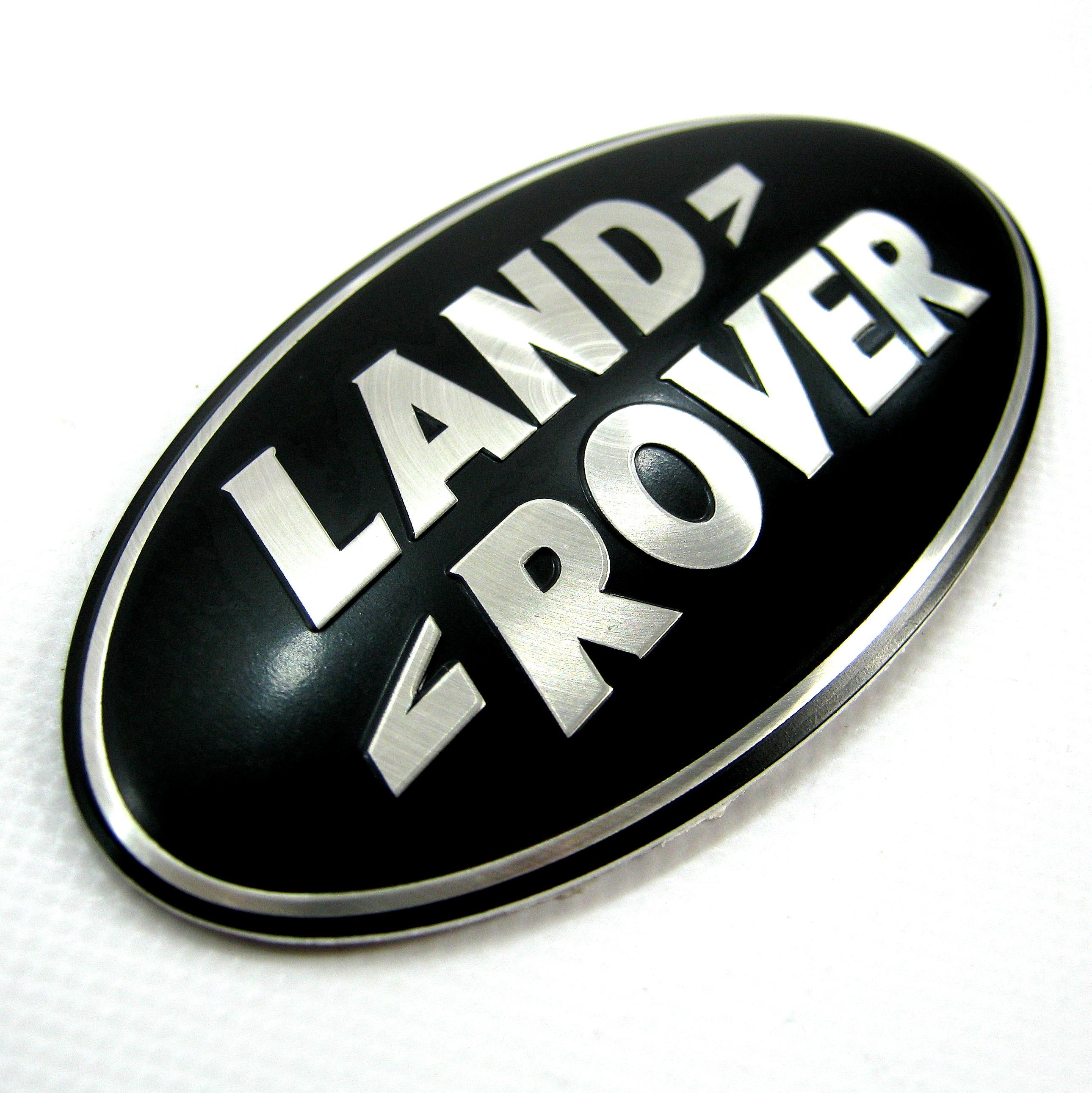 Land Rover Freelander 1 BLACK SILVER rear door badge oval logo