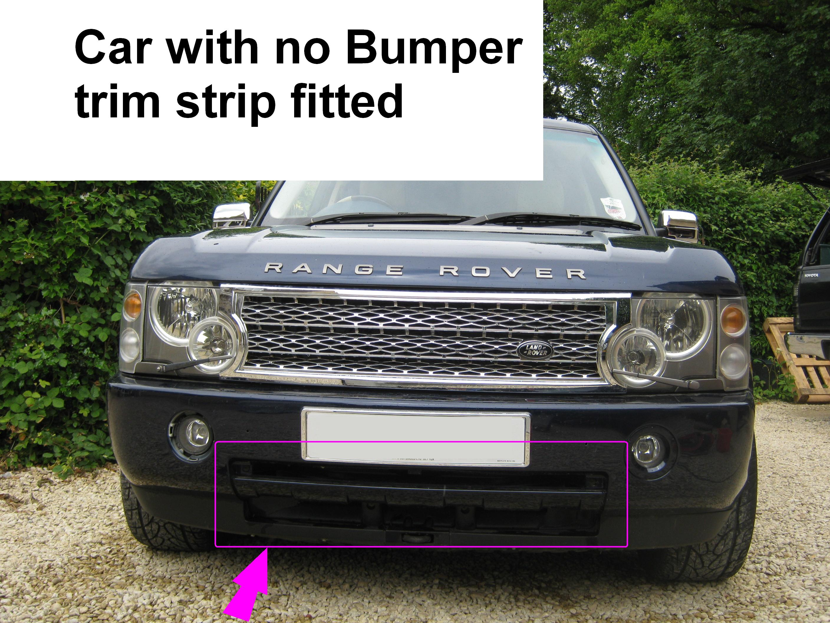2010 look front bumper trim strip for Range Rover L322 Vogue