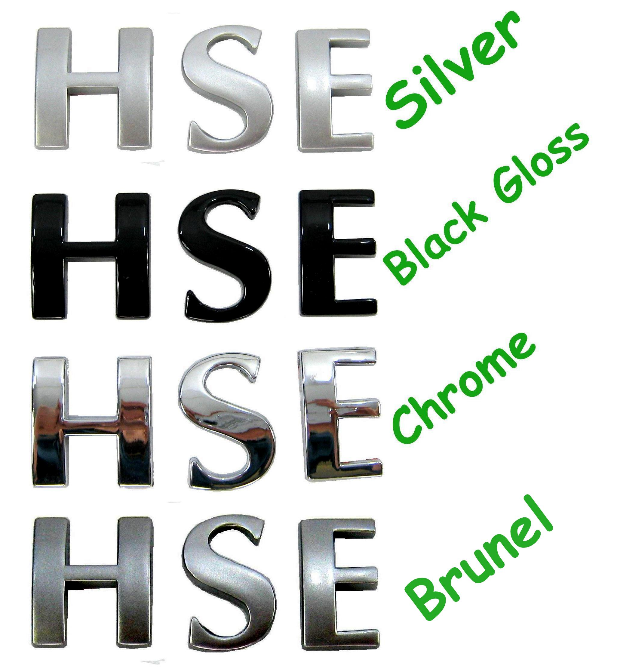 Silver Letters HSE logo for Range Rover L322 sel V8