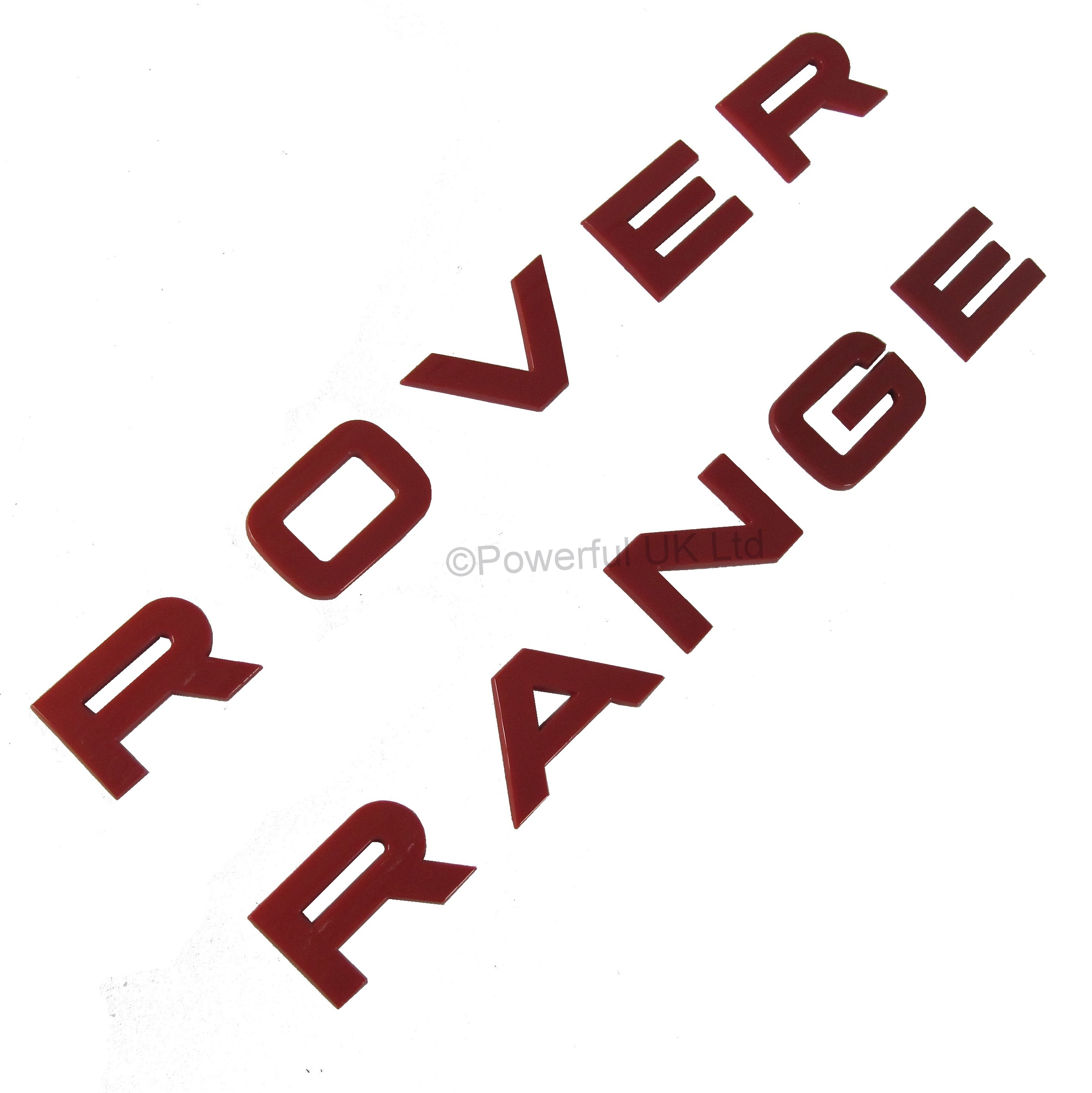 Red rear tailgate Lettering for RANGE ROVER Sport L320 letters