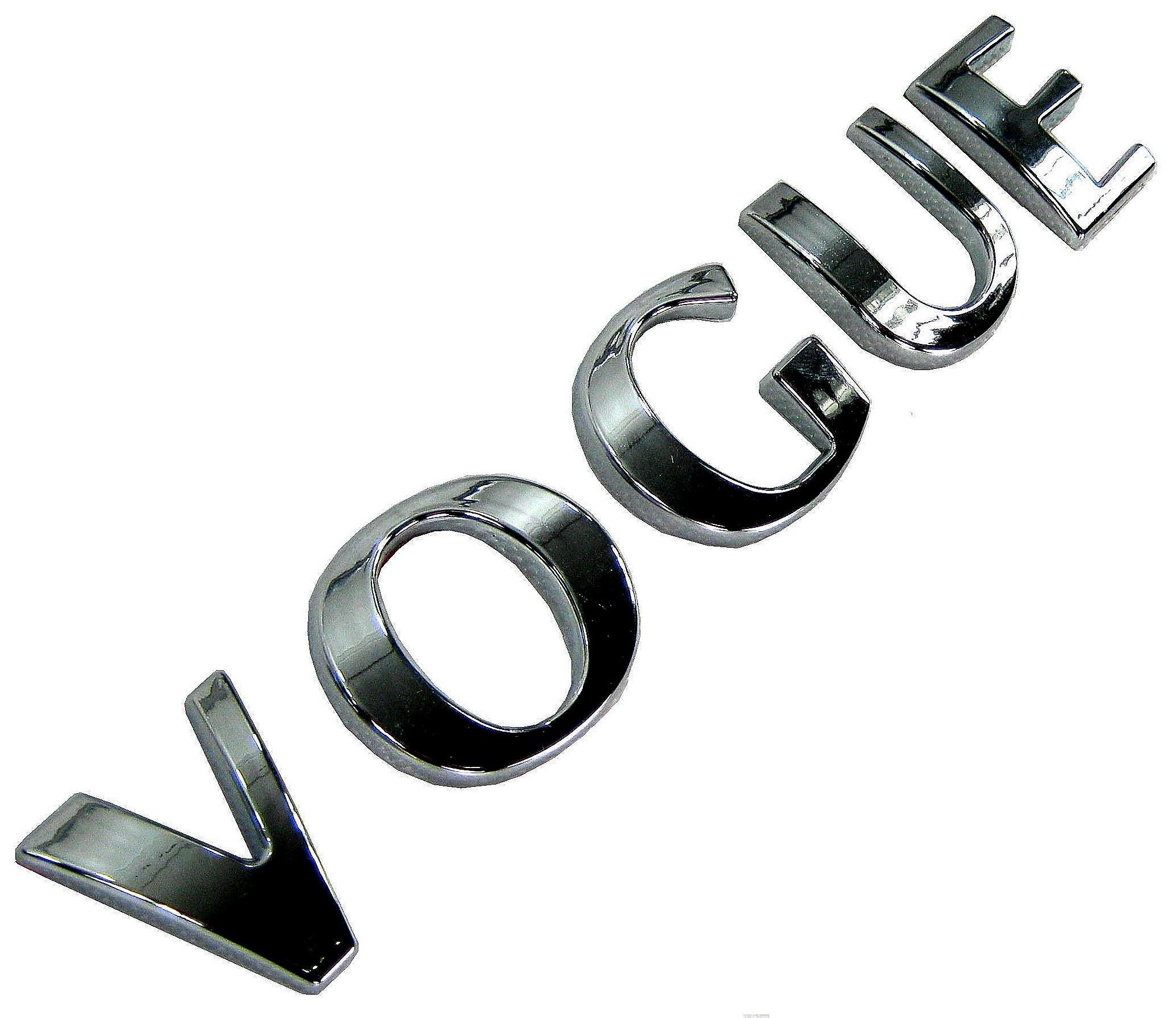 Chrome Lettering VOGUE for Range Rover L322 badge logo HSE font