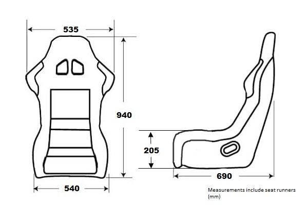 Black SVX style reclining bucket style seats Land Rover