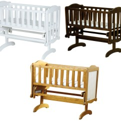 Rocking Chair Crib Outdoor Table And 6 Chairs Saplings Glider Lockable Cradle Baby Child