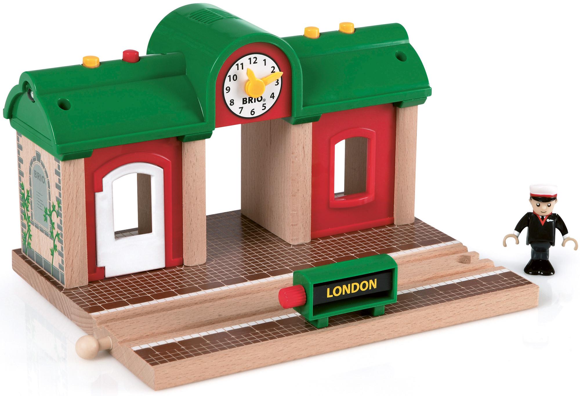 Brio Aufnahme und Spiel Station Klassisches Holz Spielzeug