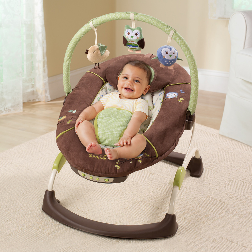 baby chair that vibrates wheel width summer infant cuddly owl bouncer musical vibrating