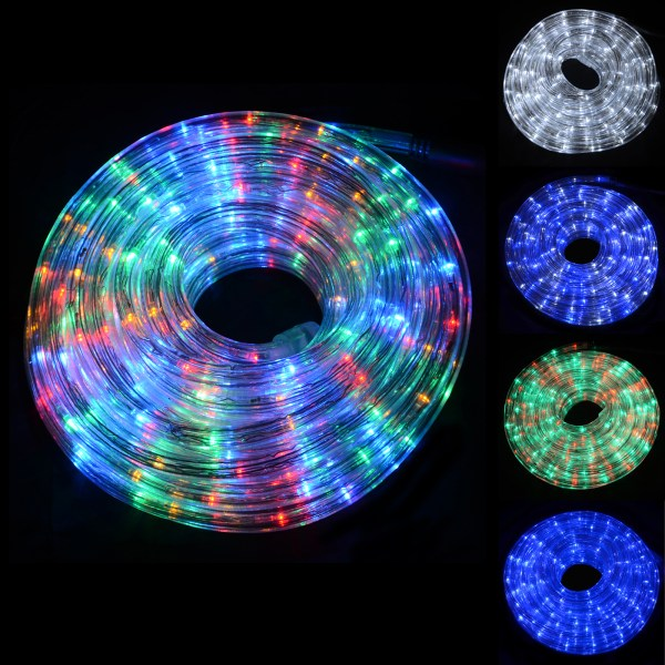 Super Bright Led Chasing Rope Lights Christmas Xmas Indoor Outdoor Decoration