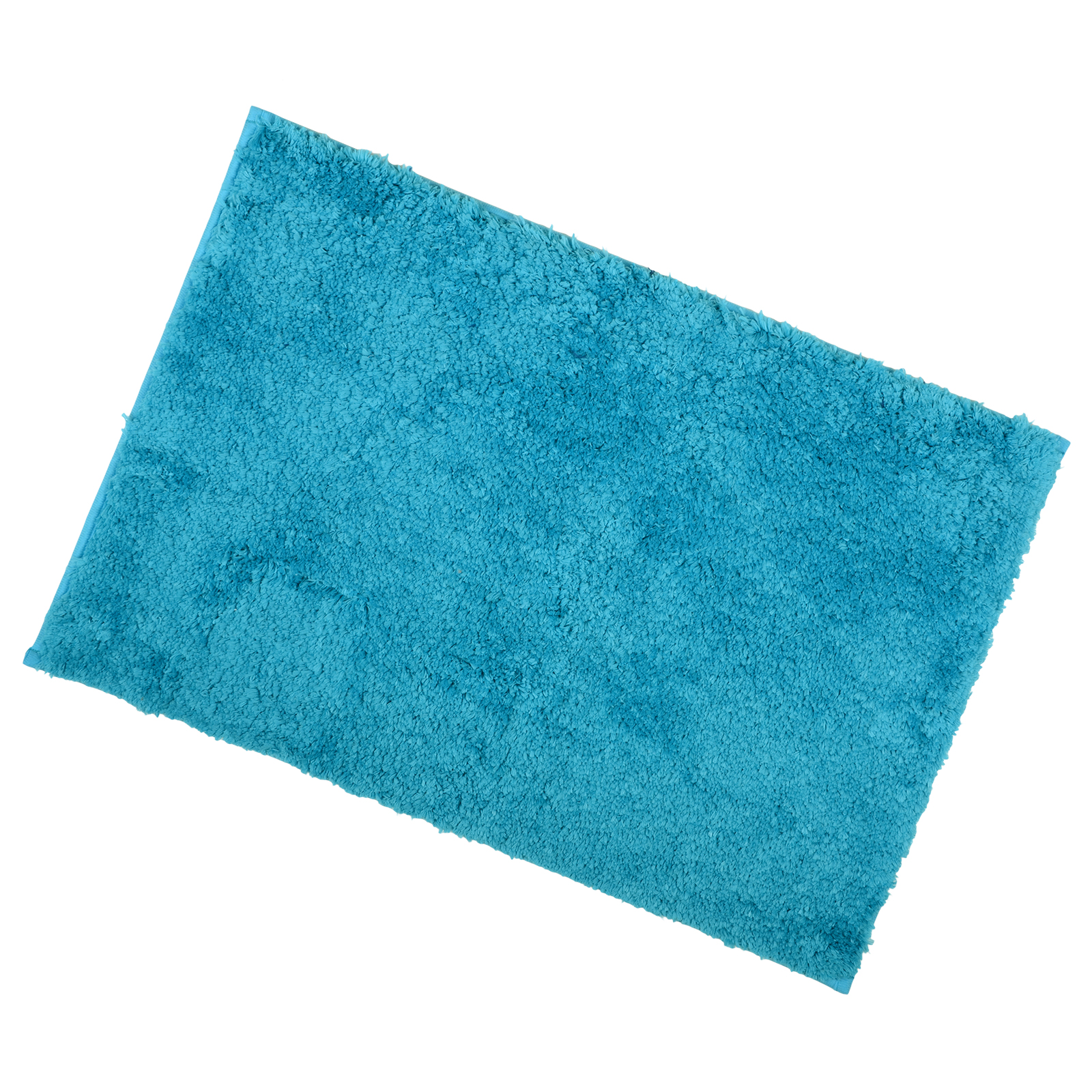 Teal 40x60cm Tufted Micro Fibre Bath Shower Mat Rug With