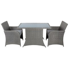 2 Chairs And Table Rattan Big Fold Out Chair Aruba Wicker Balcony Bistro Seat Garden Furniture