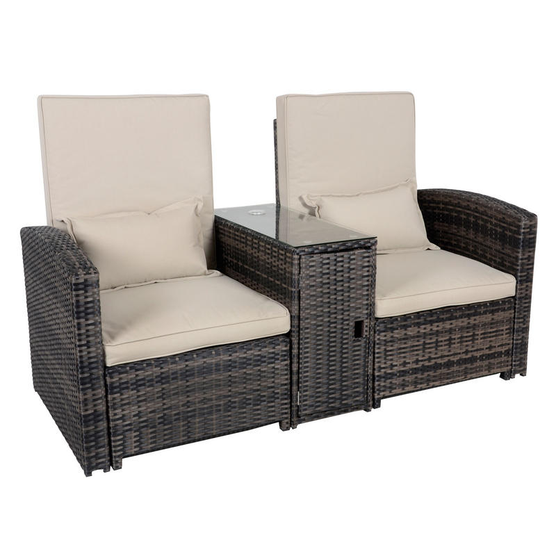 aluminium reclining garden chairs uk big and tall executive leather office antigua rattan wicker sun lounger companion set