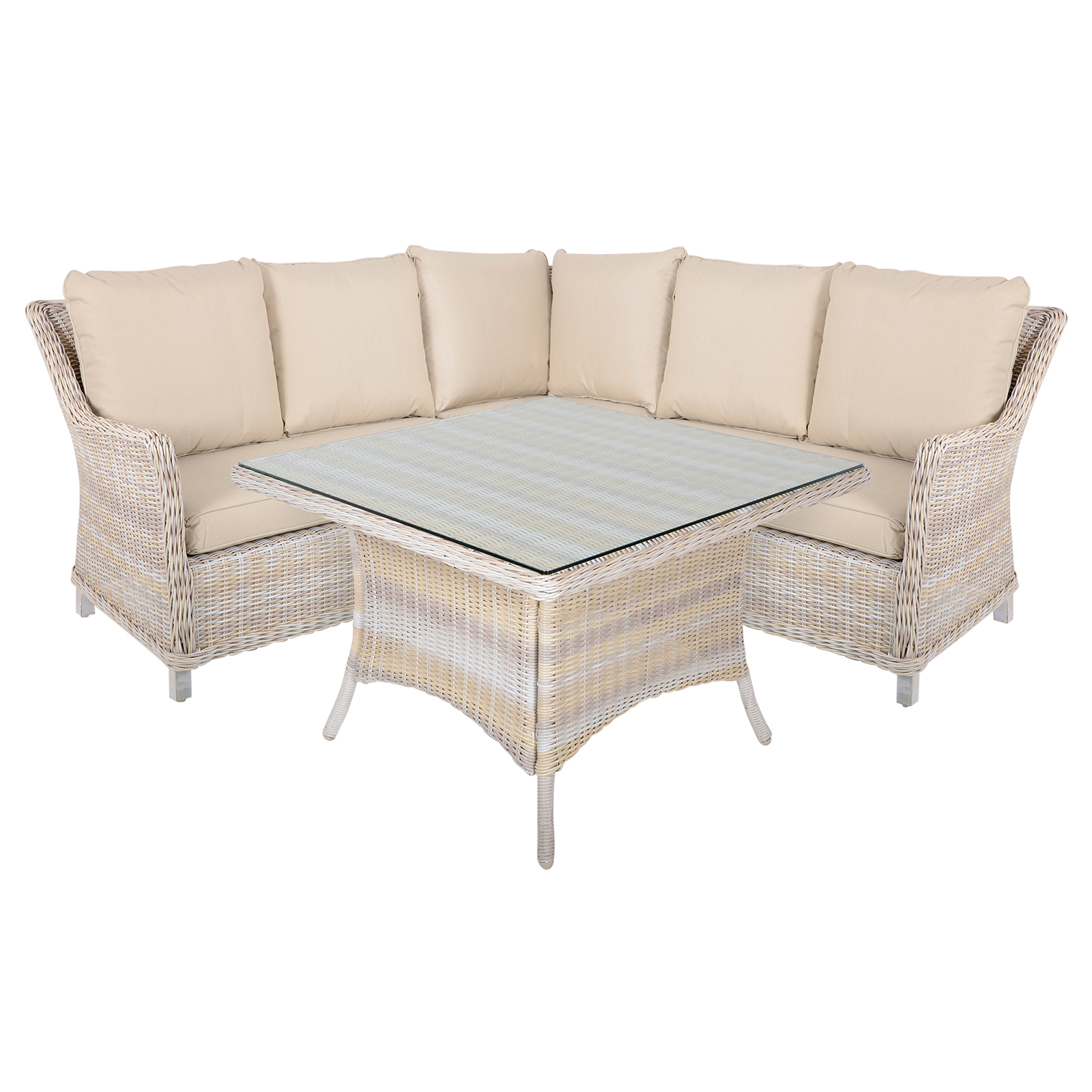 garden corner sofa with dining table modular chile rattan barbados furniture patio outdoor lounge