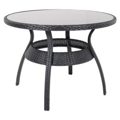 Rattan Patio Chairs Uk Chair Mat Carpet Ravenna Dining Table 4 Black Wicker