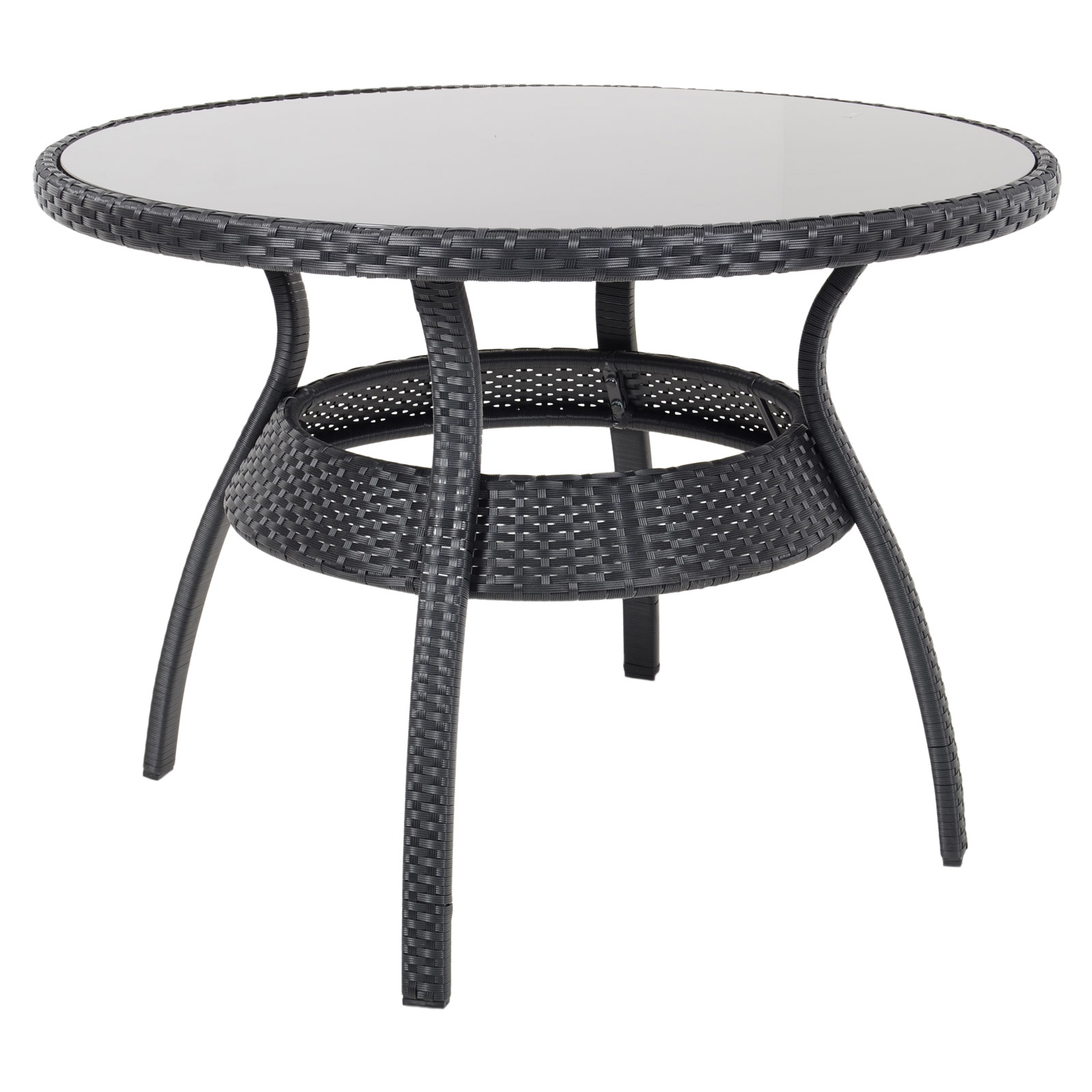 Black Patio Chairs Ravenna Dining Table 4 Chairs Black Rattan Wicker