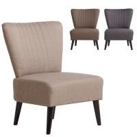 Sophia Bedroom Chair Woven Fabric Cushioned Sofa Seat Wood