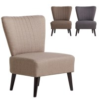 Sophia Bedroom Chair Woven Fabric Cushioned Sofa Seat Wood ...