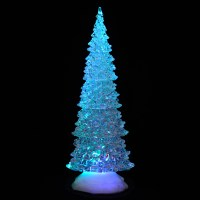Battery Operated Colour Changing LED Acrylic Tall Tree ...