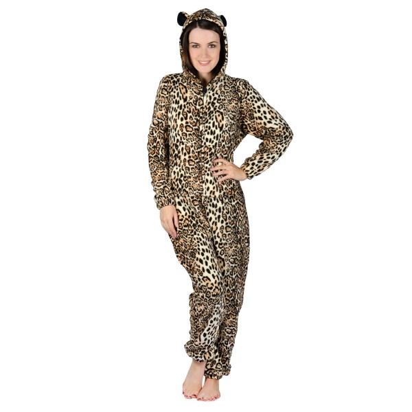 Ladies Leopard Animal Print In Pyjamas Pjs