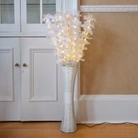 Floor Standing Fibre Optic Lamp Flowers Indoor White ...