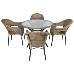 Rattan Garden Dining Chairs Uk Single Person Hammock Chair Havana Wicker 4 Seat Patio Furniture